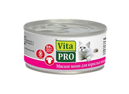 Корм для взрослых кошек Vita PRO с говядиной фото