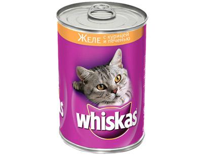 Корм для кошек Whiskas (Вискас) с печенью, 400г фото