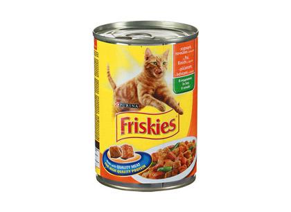 Корм для взрослых кошек Friskies с курицей, почками и овощами 400г ж/б фото