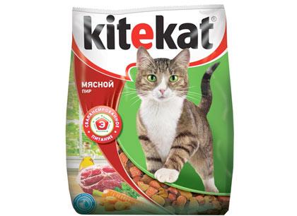 """Сухой корм для кошек Kitekat """"Мясной пир """",2,2кг фото"""