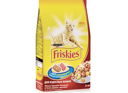 Корм для взрослых кошек Friskies с мясом, курицей и овощами 2кг. фото