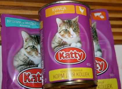 Консервированный корм для кошек Katty фото