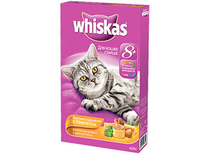 Корм для кошек Whiskas (Вискас) Вкусные подушечки с нежным паштетом фото