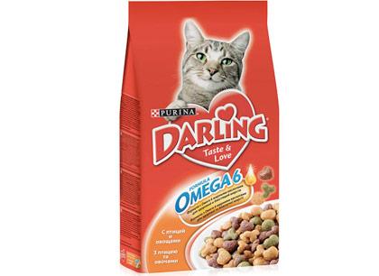 Корм для кошек Darling с птицей и овощами фото