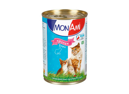 Корм для кошек Mon Ami кролик в соусе фото