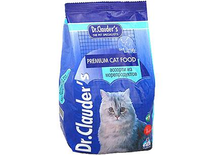Корм для кошек Dr.Clauders ассорти из морепродуктов фото