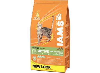 Корм для кошек Iams с ягненком и курицей фото
