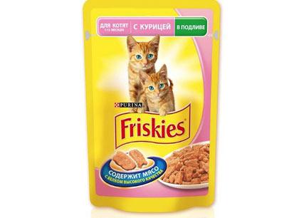 Корм для котят Friskies курица в подливе, 100г фото
