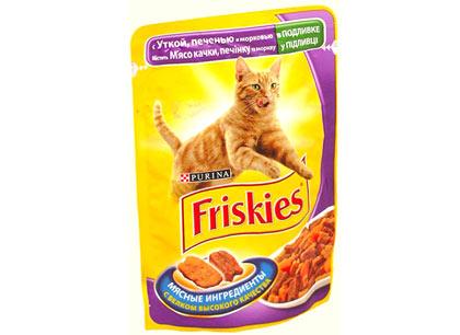Корм для кошек Фрискис 100г, утка, печень, морковь фото