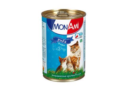 Кошачий корм Mon Ami рыба в соусе фото