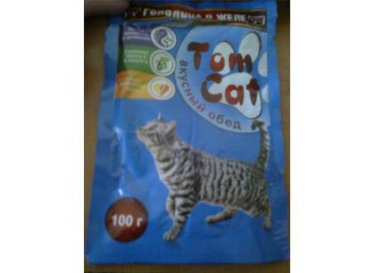 Корм для кошек Tom Cat Говядина в желе фото