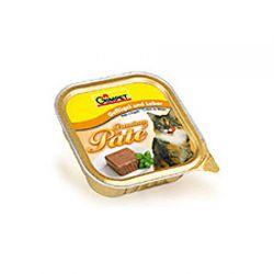 Gimpet Корм кон 100 г для кошек Premium Pate курица + печень фото