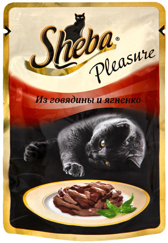 Корм для кошек Sheba Pleasure из говядины и ягненка 85г фото