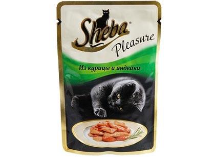 Sheba Pleasure курица и индейка фото