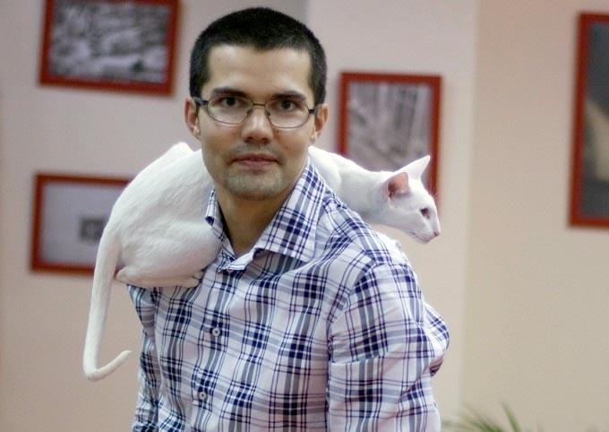 История основателя кошачьей гостиницы «Сэр кот» Андрея Пушкина фото