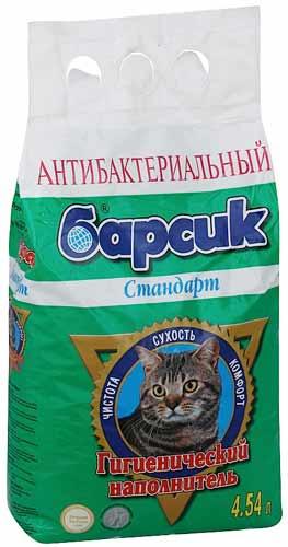 Наполнитель Барсик для кошачьего туалета стандарт, антибактериальный фото