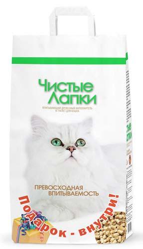 Наполнитель Чистые лапки для кошачьего туалета древесный фото