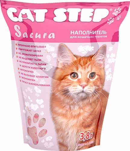 Наполнитель Cat Step Sacura силикагелевый фото