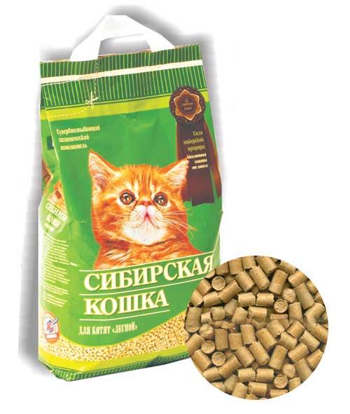Наполнитель Сибирская кошка для котят Лесной фото