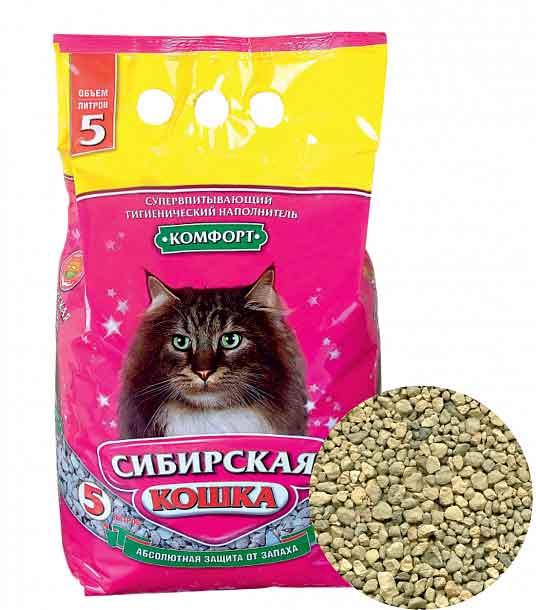 Наполнитель Сибирская кошка Комфорт впитывающий фото