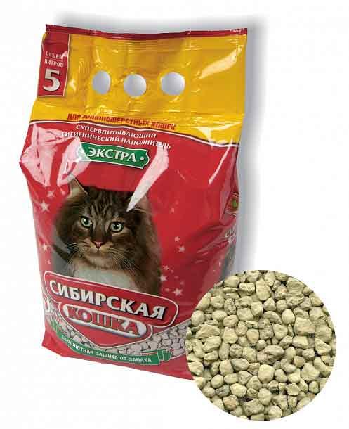 Наполнитель Сибирская кошка ЭКСТРА впитывающий для длинношерстных кошек фото