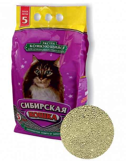 Наполнитель Сибирская кошка ЭКСТРА комкующийся для длинношерстных кошек фото