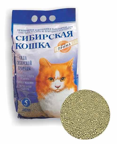 Наполнитель Сибирская кошка Прима комкующийся фото
