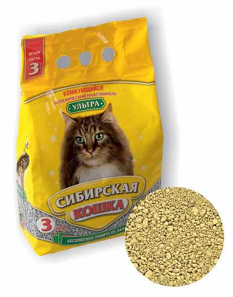 Наполнитель Сибирская кошка Ультра комкующийся фото