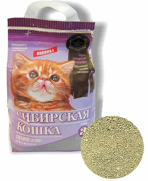 Наполнитель Сибирская кошка Для котят комкующийся фото