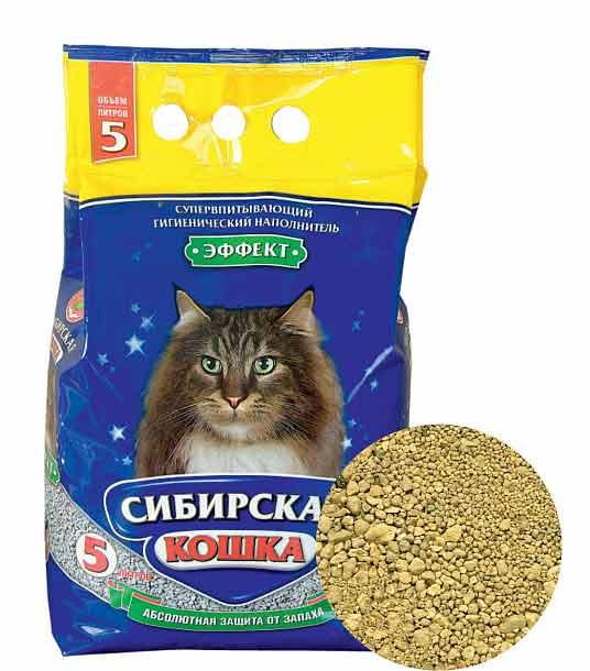 Наполнитель Сибирская кошка Эффект впитывающий фото