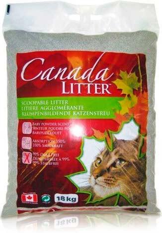 Наполниель Canada Litter комкующийся с ароматом детской присыпки фото