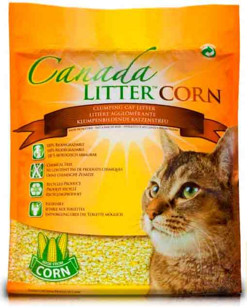 Наполниель Canada Litter комкующийся кукурузный БИО-наполнитель,  Bio Corn Clumping Litter фото