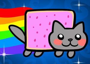Nyan Cat - Lost in Space (игра Нян кот Потерянный в космосе) фото