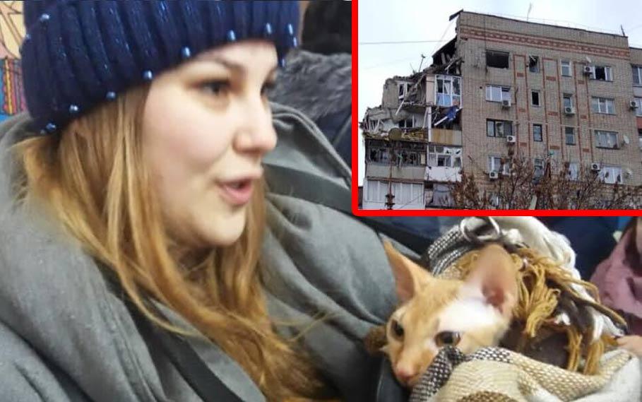 Из обрушившегося дома в Шахтах спустя сутки спасли кошку фото
