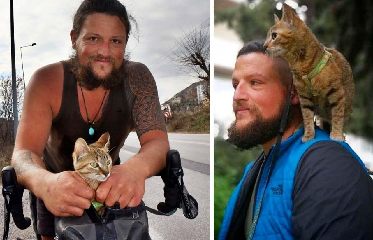 Кошка вместе со своим хозяином полгода путешествовала по Европе фото