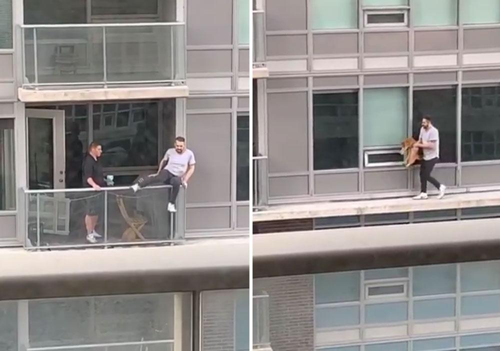 Мужчина рискнул своей жизнью, чтобы спасти кота фото