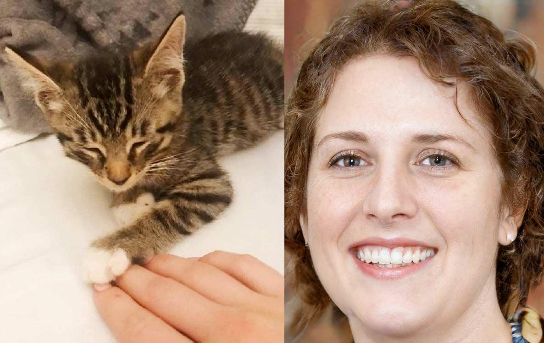 «Чирикающий» полосатый кот привлек девушку своим именем фото