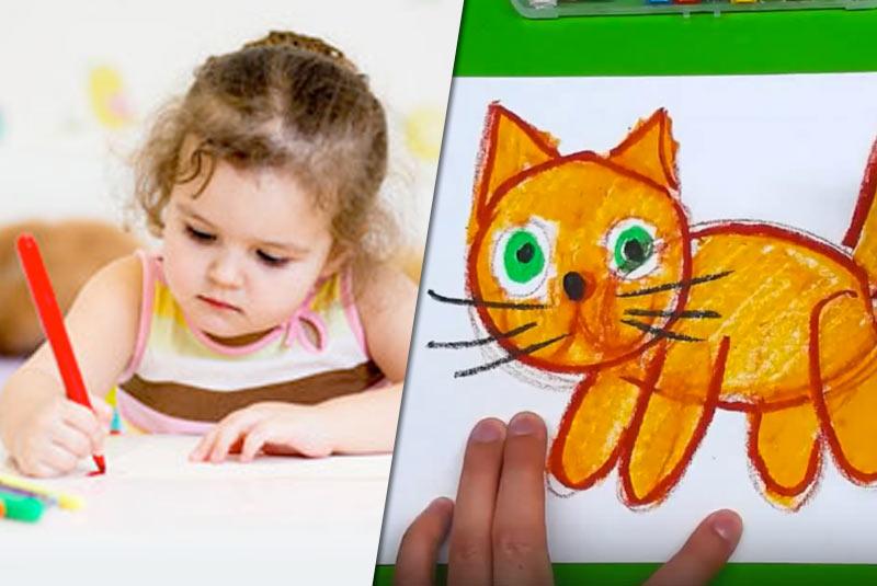 Самым маленьким: как нарисовать кошку фото
