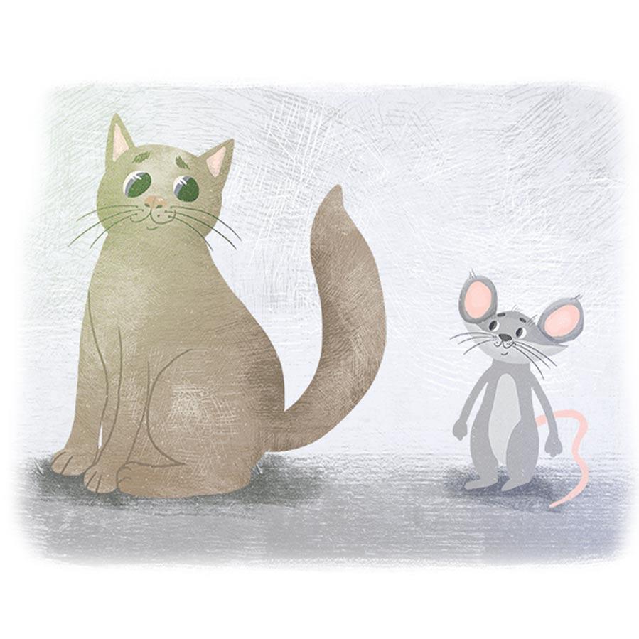 Дружба кошки и мышки фото